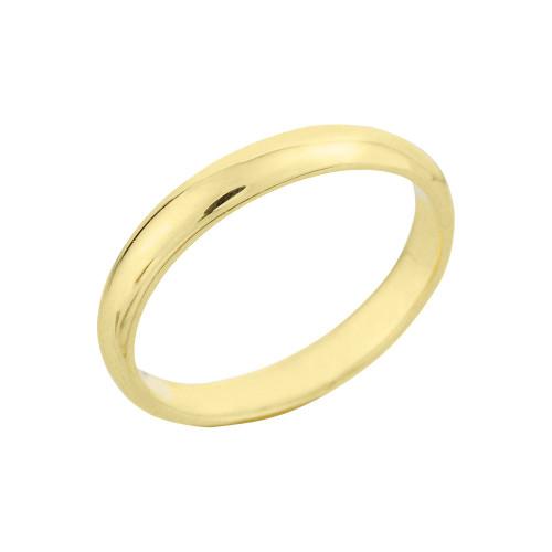 Yellow Gold Classic Wedding Band 3MM