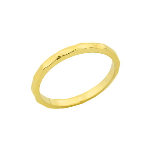 Gold Hammered Baby Ring