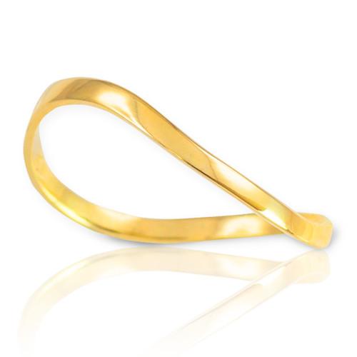 Gold Wavy Thumb Ring