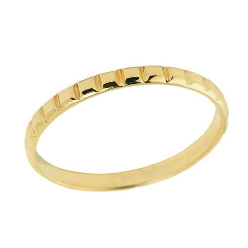 Yellow Gold Classic Thumb Ring