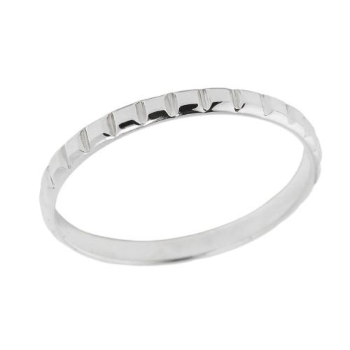 White Gold Classic Thumb Ring