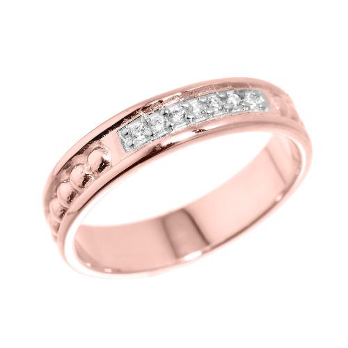 Rose Gold Diamond Classic Wedding Band