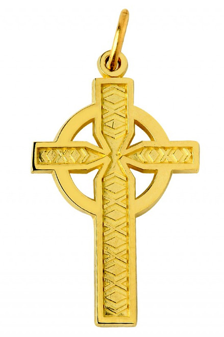 Celtic Cross Yellow Gold Pendant