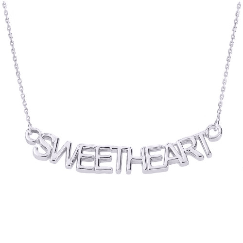 """Sterling Silver """"SWEETHEART"""" Pendant Necklace"""