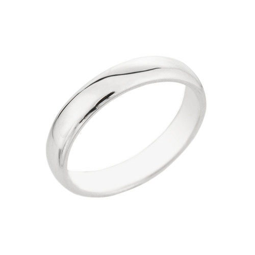 Sterling Silver Classic Thumb Ring 4MM