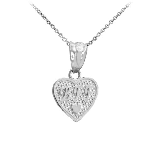 Sterling Silver 'BFF' Heart Charm Necklace