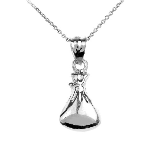 Sterling Silver Baby Sack Charm Pendant Necklace