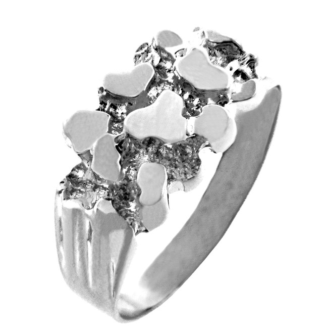 Sterling Silver Men's Strong Nugget Ring