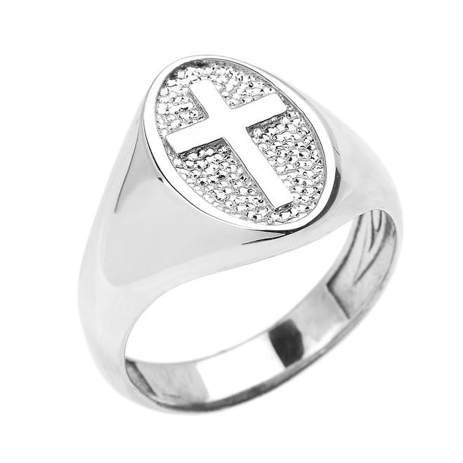 Sterling Silver Christian Religious Cross Unisex Ring
