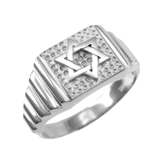 Sterling Silver Star of David Jewish Ring