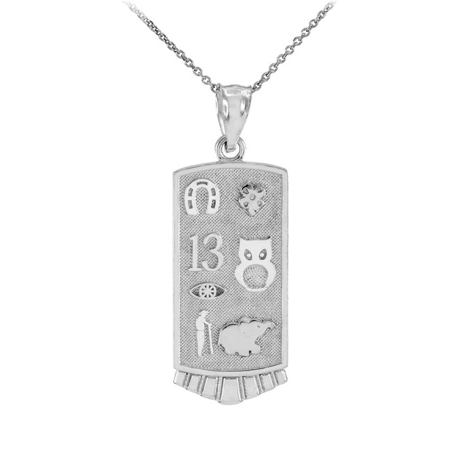 Sterling Silver Lucky Pendant Necklace