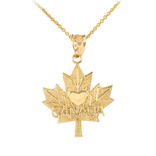Gold Maple Leaf White Gold Open Design Pendant Necklace Canadian Symbol Maple Necklace Maple Leaf Leaf Pendant Canadian Pendant