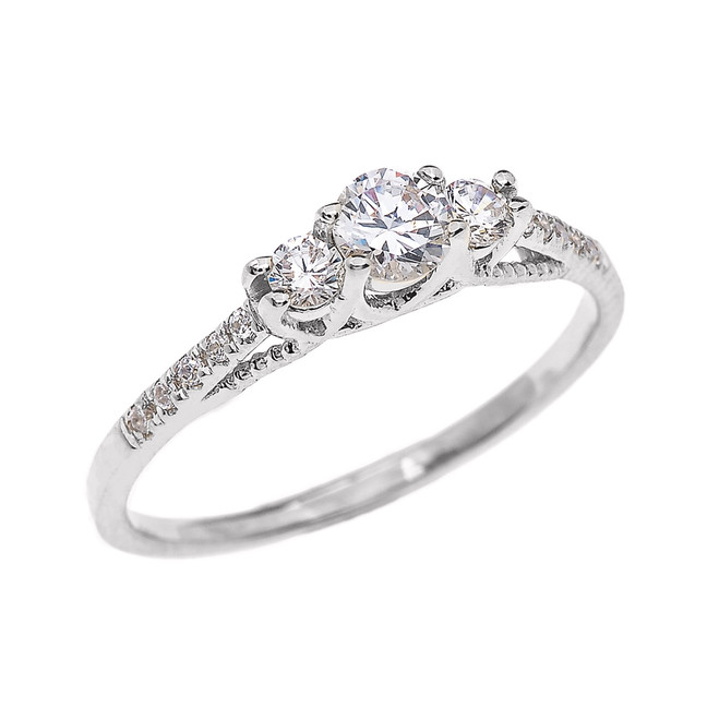 Diamond Proposal/ Engagement Ring in White Gold