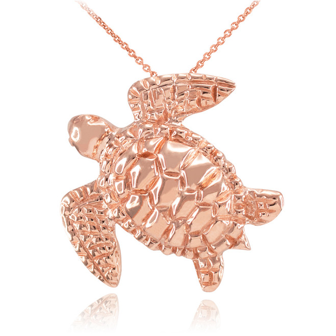 Rose Gold Turtle Pendant Necklace
