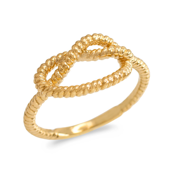 Gold Knot Promise Ring