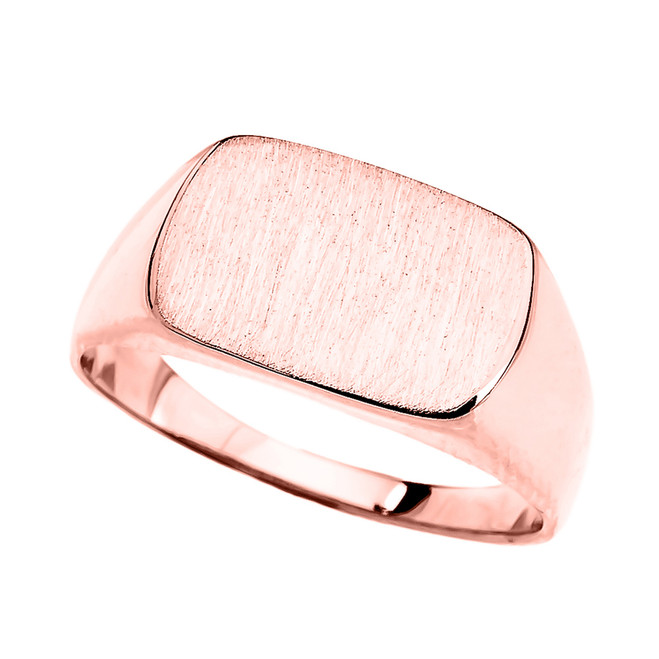 Rose Gold Rectangular Signet Ring