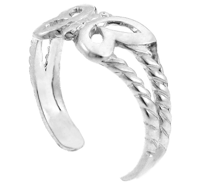 White Gold Butterfly Toe Ring