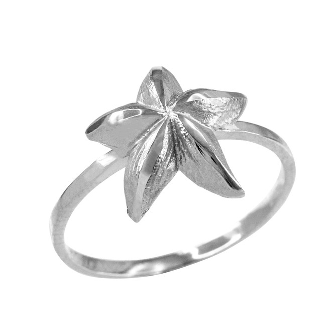 Sterling Silver Dainty Starfish Ring