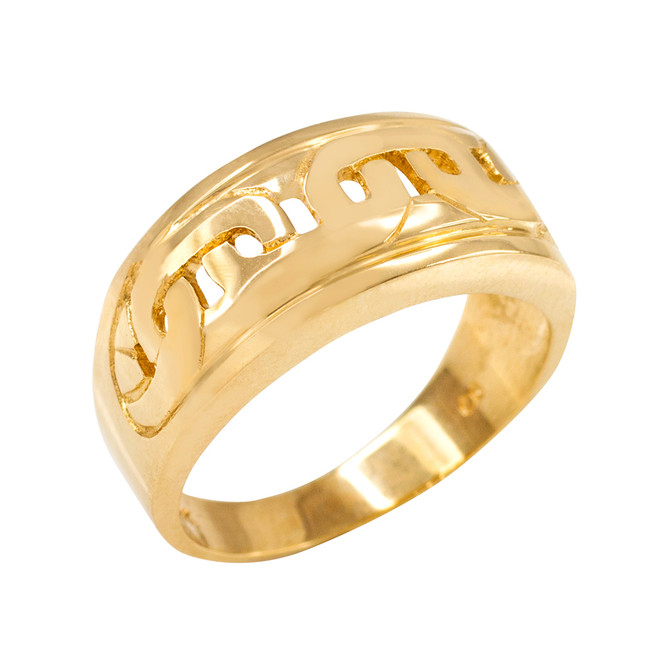Yellow Gold Mariner Link Pattern Ring