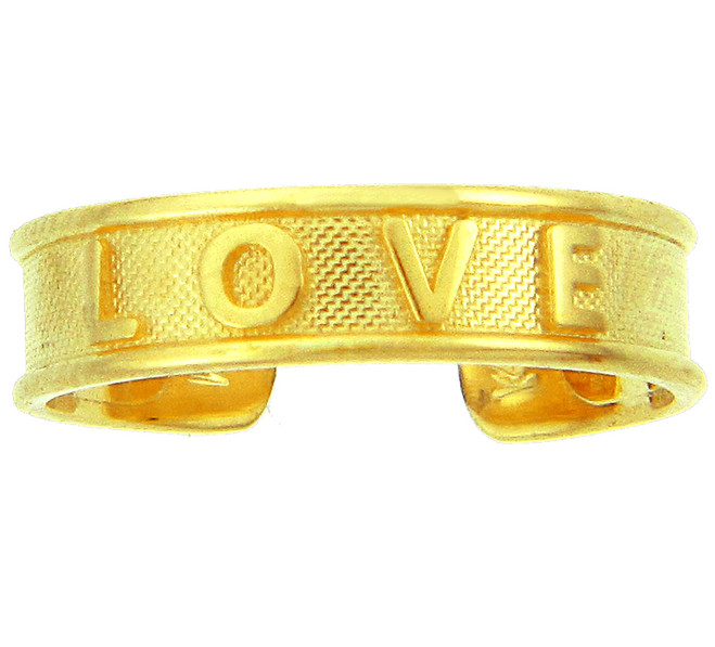 Yellow Gold LOVE Toe Ring