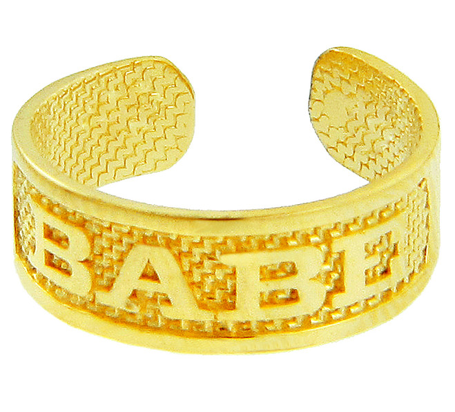 Yellow Gold BABE Toe Ring