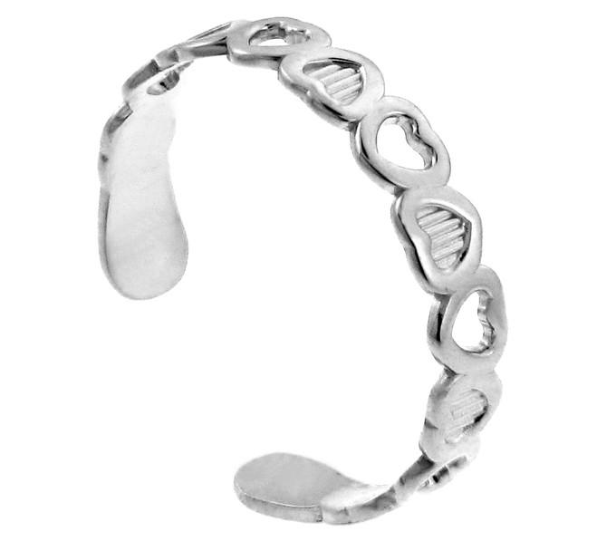 Heart Silver Toe Ring
