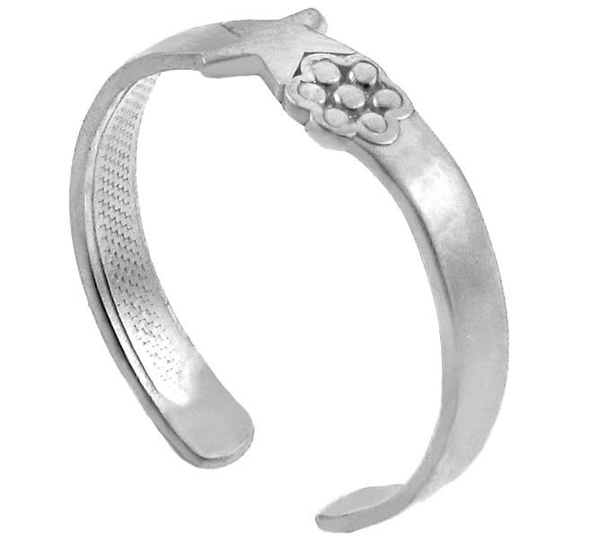 Star Silver Toe Ring