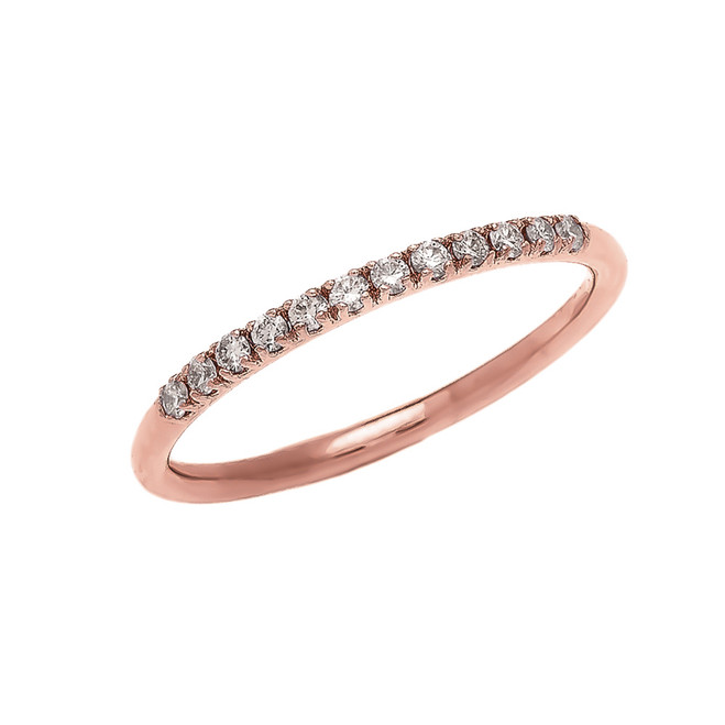 Diamond Stackable Rose Gold Wedding Band