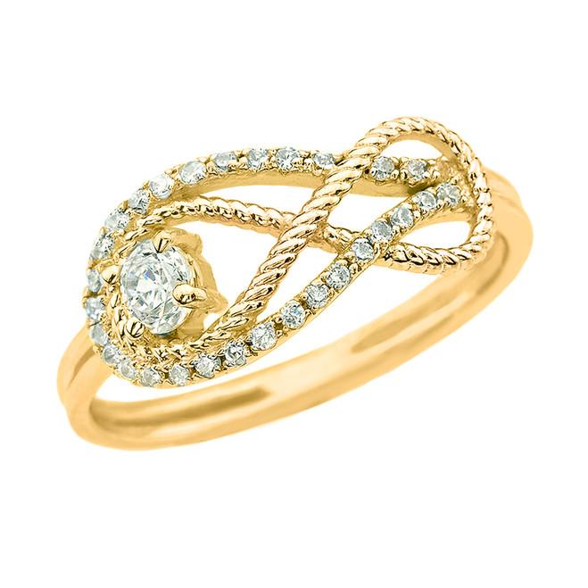 Diamond Infinity Ring in Yellow Gold