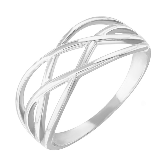 White Gold Celtic Knot Thin Band Women's Ring