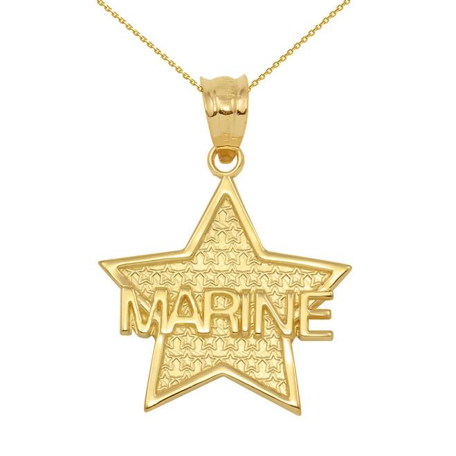 Yellow Gold Marine Star Pendant Necklace
