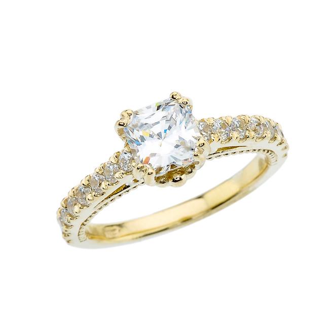 Elegant Yellow Gold Proposal/Wedding Ring