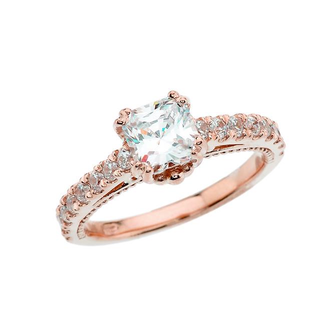Elegant Rose Gold Proposal/Wedding Ring