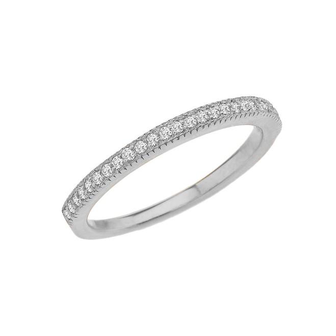 Elegant Diamond Wedding Band in White Gold