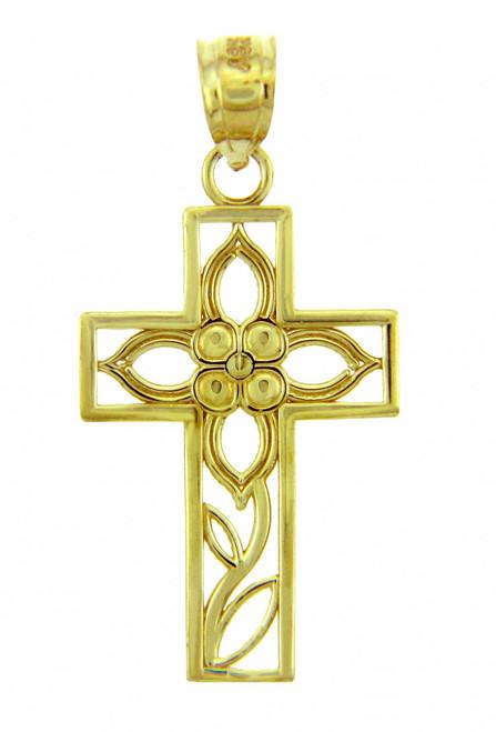 Yellow Gold Cross Pendant - The Beauty Cross