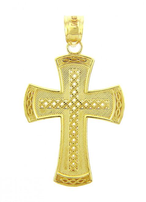 Yellow Gold Cross Pendant - The Symbol Cross