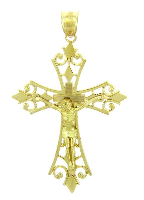Yellow Gold Crucifix Pendant - The Agape Crucifix