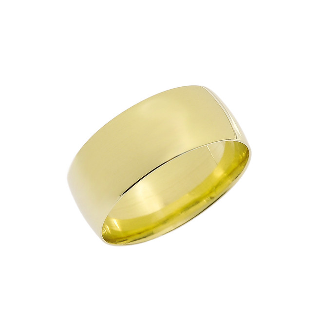 Yellow Gold 8mm Comfort Fit Classic Wedding Band