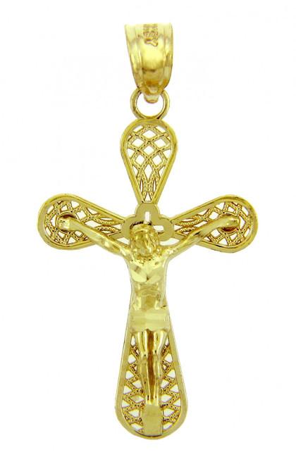 Yellow Gold Crucifix Pendant - The Eternity Crucifix