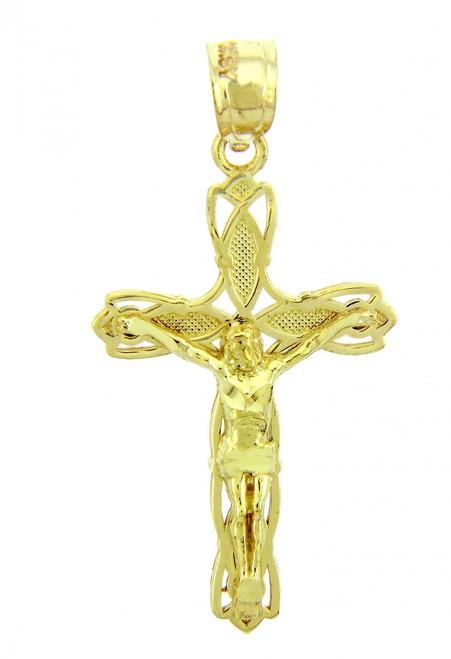 Yellow Gold Crucifix Pendant - The Forgiveness Crucifix