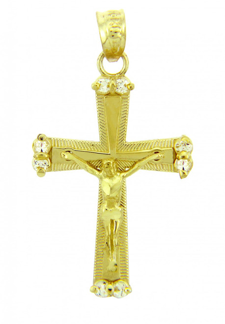 Yellow Gold Crucifix Pendant - The Sacred Crucifix