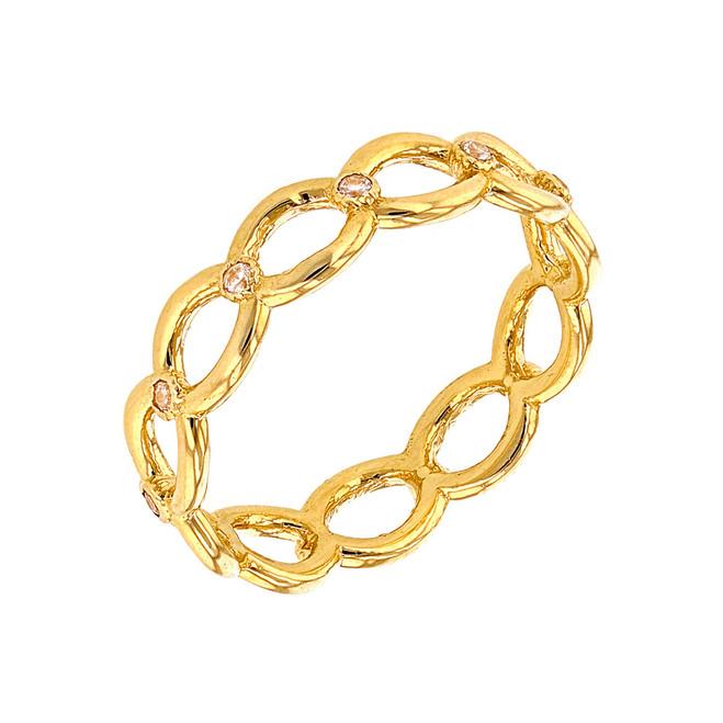 Yellow Gold Diamond Infinity/Eternity Band