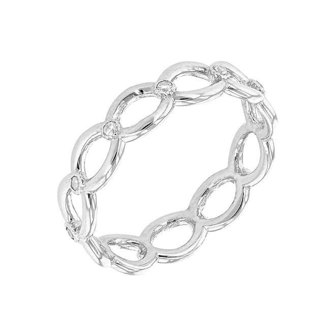 White Gold Diamond Infinity/Eternity Band