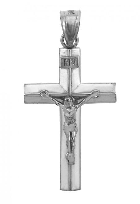 Sterling Silver Crucifix Pendant - The Line Crucifix