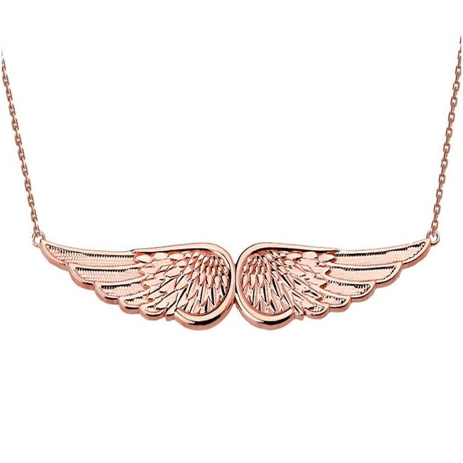 Rose Gold Angel Wings Necklace