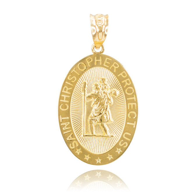 "Saint Christopher ""Protect Us"" Religious Charm"