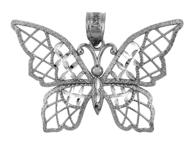 White Gold Charms - The White Gold  Papillon Butterfly