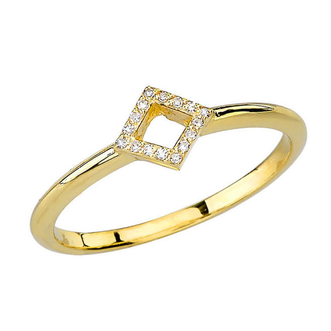 Yellow Gold Open Diamond Ring