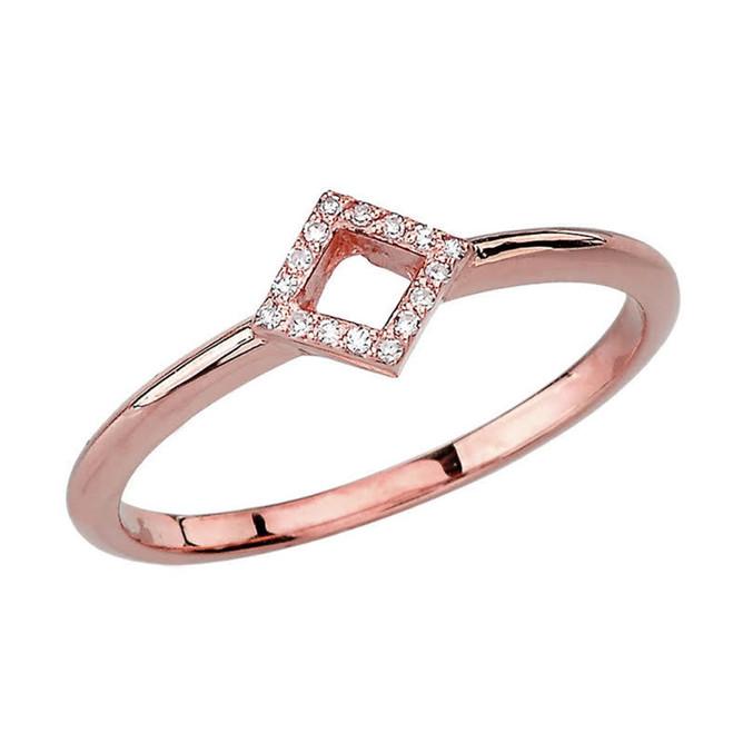 Rose Gold Open Diamond Ring