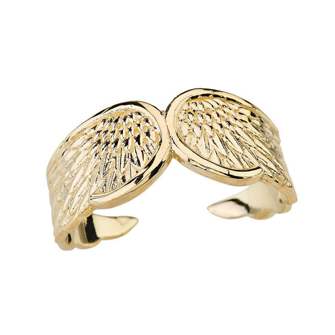 Yellow Gold Angel Wing Ring